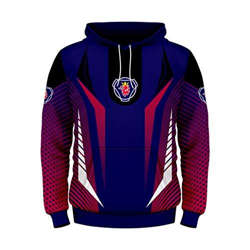 Cronell Story Unisex Langarm Hoodie 3D Digital International Scania Logo Print Sweatshirt Lässiges Sweatshirt (1,L)