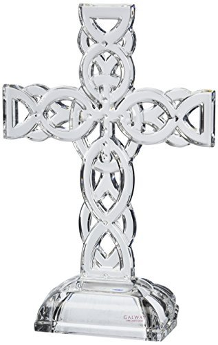 Belleek Pottery 34002 Celtic Cross, 11.4-Inch, Clear, Set of 1