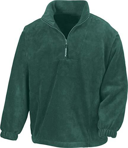 Result Active Fleece-Jacken mit kurzem Reißverschluss für Herren Gr. L, wald