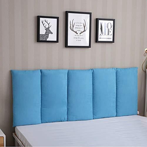 Headboard Cushion wigvormig hoofdkussen rugkussen voor bed kussen zonder hoofdeinde stang voor de muur voorkomt de slaapkamer van de slagkop, 10 vaste kleuren, 3 maten gezicht
