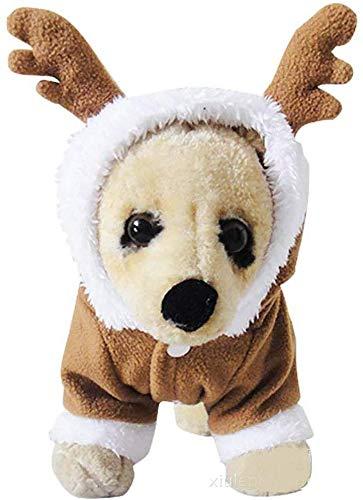 Zgywmz - Pet Puppy Kat Kerst Pak Outfit Huisdier Hond Hoodie Costume Jas Puppy Winter Warm Jas Huisdier Hond Kleding Pak voor Kerstmis Halloween Party Apricot-L, M, Captain America