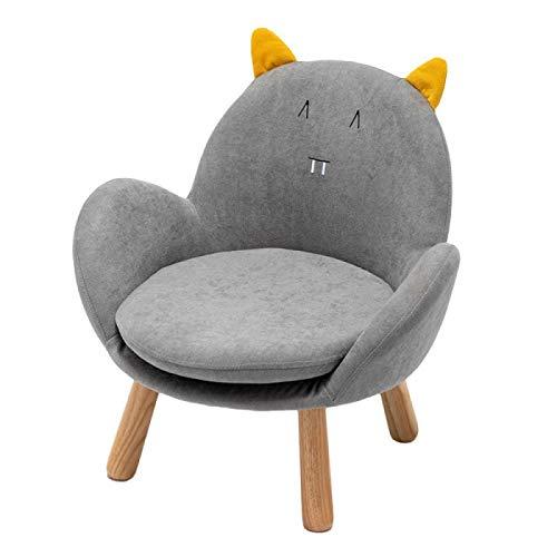 Jiyi Sofá, sofá de niños, silla de niños, sofá individual, sillón, sofá, taburete, 42 x 44 x 55 cm, superficie lavable de franela Greykitten