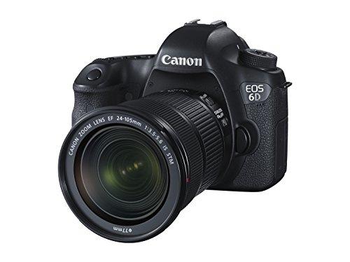 Canon EOS 6D + EF 24-105mm Juego de cámara SLR 20,2 MP CMOS 5472 x 3648 Pixeles Negro - Cámara Digital (20,2 MP, 5472 x 3648 Pixeles, CMOS, Full HD, 755 g, Negro)