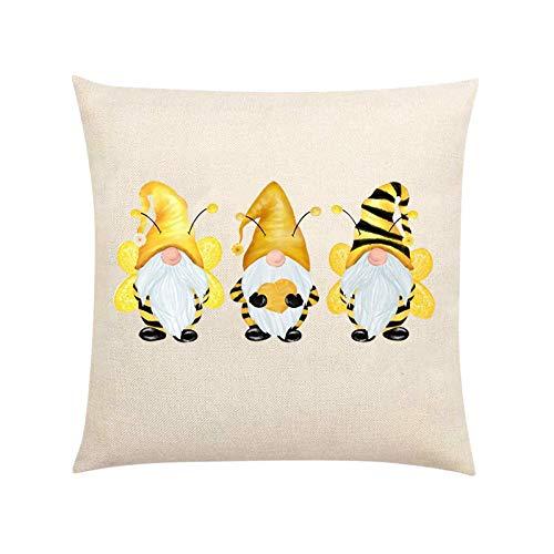 AC1 Honeybees - Funda de cojín cuadrada decorativa para sofá o dormitorio