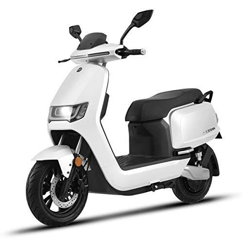 "Elektroroller ""ROBO"", 4000 Watt, E-Scooter, Elektro-Roller, E-Roller mit Straßenzulassung, 75 km/h, herausnehmbarer Lithium-Akku, Weiß"