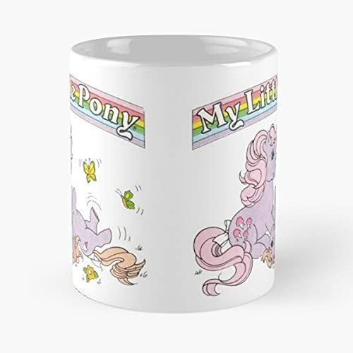 My Little Pony G1 - Taza de café con texto en inglés 'Mommy and Baby Lickety Split versión 2, cerámica blanca de color blanco