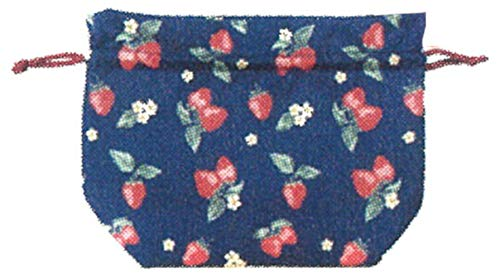フレンズヒル(Friendshill) ランチ巾着 ストロベリーガーデン ネイビー 21x28 お弁当袋 イチゴ IS-212-140