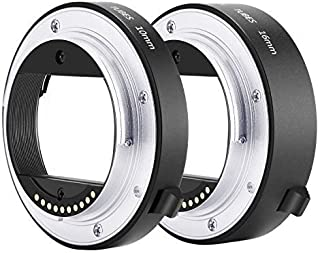 Neewer Metal AF Auto-Focus Macro Extension Tube Set 10mm&16mm for Sony NEX E-Mount Camera NEX 3/3N/5/5N/5R/A6000/A6300 and...
