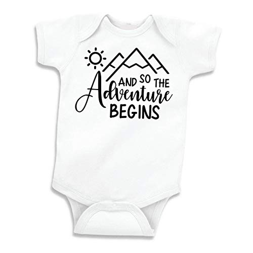 Bump and Beyond Designs Baby Announcement Gift for Dad Grandpa or Grandma (White 0-3 Months)