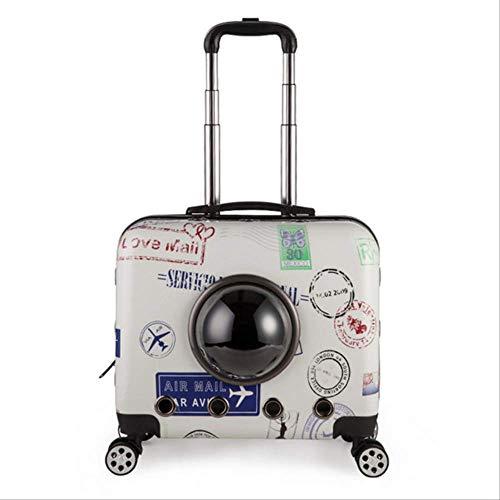 JBPX Draagtas voor huisdieren voor kleine huisdieren, bagage op wielen, voor honden en katten, transporttas voor reizen, 43X45X28CM, 10 Correas