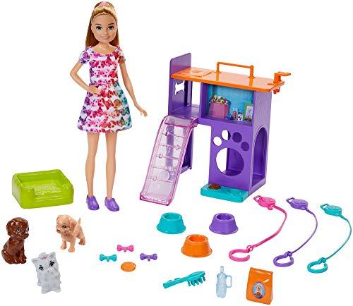 Conjunto Barbie Team Stace Filhotinhos, Cuidando de Cachorrinhos Mattel