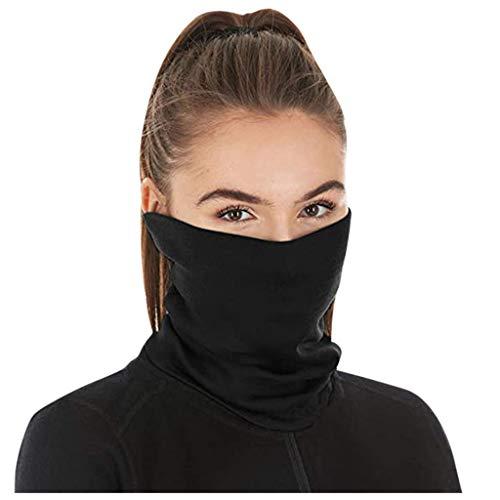 Skxinn Halsmanschette Schal Gesichtsschutz mit Filtern Aktivkohle, Sicherheitsfilter Staubdicht Atmungsaktiv Mehrzweck für den Außenbereich/Festivals/Sport für Männer Frauen
