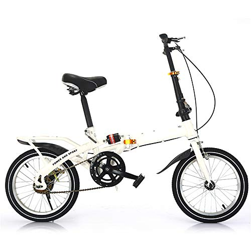 Faltrad Leichter Aluminiumrahmen Mountainbike 7-Gang-Getriebe Geeignet für Outdoor-Radfahren,White