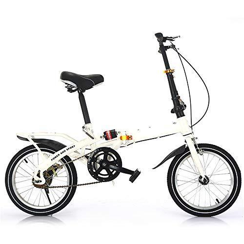 Vouwfiets, lichtgewicht aluminium frame, mountainbike, 7-versnellingen, geschikt voor outdoor-fietsen, wit