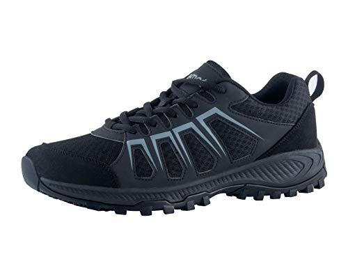 riemot Turnschuhe Damen Herren, Trail Laufschuhe Outdoor Sportschuhe Fitness Schuhe Freizeitschuhe, Running Shoes Men Women, Atmungsaktive Sommer Sneaker Walking Schuhe Gr.36-46 Damen Schwarze 39EU