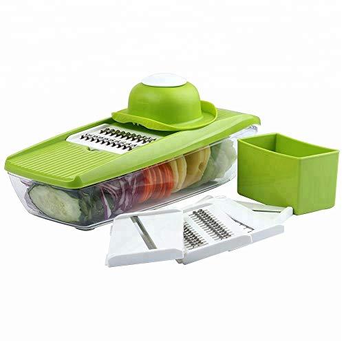 Aigner & Reiter Premium Gemüseschneider, Gemüsehobel mit austauschbaren Klingen und Griff zum Schutz vor Verletzungen, ideal zum Hobeln von Obst, Gemüse und Käse