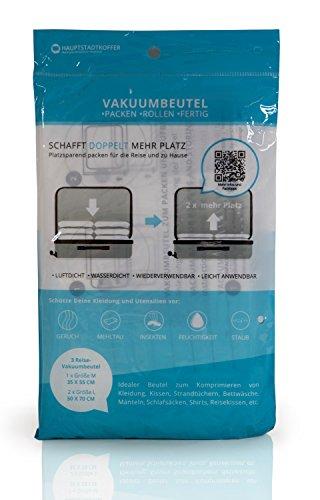 3er-Set Vakuumbeutel Aufbewahrungsbeutel – Packhilfe für die Reise, Transport, Umzug, Aufbewahrung