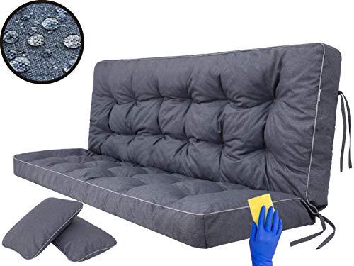 Cuscino per panca a dondolo da giardino, per panca altalena Hollywood, per interni ed esterni; 180 cm, blu navy
