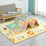 Impermeable Plegable Baby Play Mat,Alfombra,Fácil De Almacenar Suave Resistente A Las Manchas Bebé Crawling Estera,Puzzle Playmat Para Bebéstoddler Exterior O Interior No Tóxico Co-C 180x120x1cm