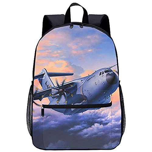 YITUOMO Mochila escolar Airbus AM Mochila para portátil Mochila de día de 17 pulgadas Mochila de viaje con panel frontal preformado Impermeable para trabajo / negocios / hombres / mujeres