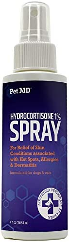 Pet MD Hydrocortisone Spray for Dogs Cats Horses Itch Relief Spray for Hot Spots Flea and Insect product image