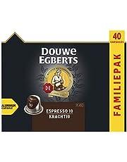 Douwe Egberts Koffiecups Espresso Krachtig Voordeelverpakking (200 Capsules, Geschikt voor Nespresso* Koffiemachines, Intensiteit 10/12, UTZ Gecertificeerd), 5 x 40 Cups