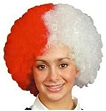 Middlesbrough Supporters Afro Wig Red and White (peluca)