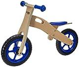KIDOS Bicicleta de Balance de Madera (Azul)