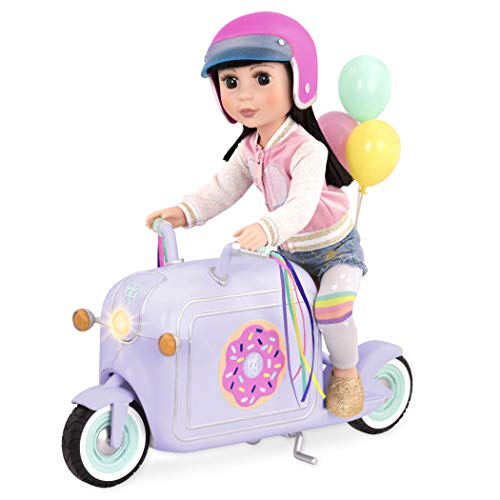 Glitter Girls by Battat – Donut Delivery Scooter – Toy Car, Bike, and Vehicle Accessories for 14-inch Dolls (35.6 cm) – Ages 3 and Up