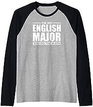 I'm An English Major You Do The Math Funny Literary Gift Raglan Baseball Tee