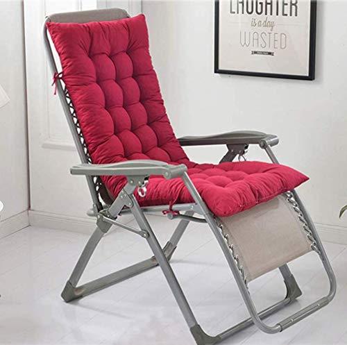 Cojín para Tumbona de jardín, con Acolchado Grueso y Respaldo Alto, para Interior y Exterior, Chaise Lounge reclinable