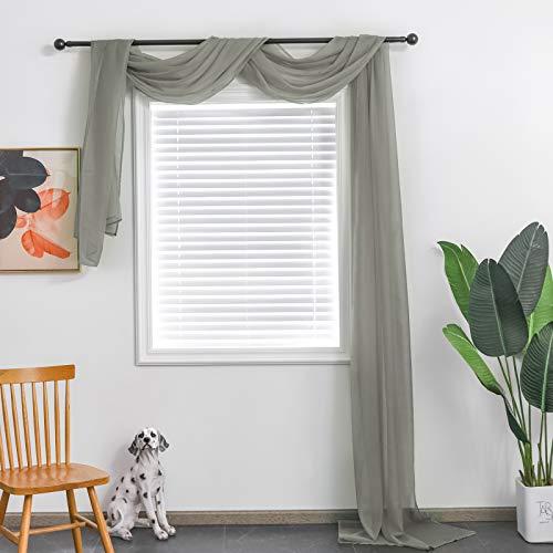 TOAVA DECO Light Grey Sheer Window …