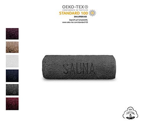 SELAGO Premium Saunahandtücher - Saunalaken – Sauna-Zubehör - Badetuch - Handtuch - Saunatücher - strapazierfähig - 70 x 200 cm - 100% Baumwolle - 500 g/m² - Farbe: Anthrazit