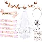 TANGGER 11 piezas Hen Party Bride to Be Sashes/Accesorios para el...
