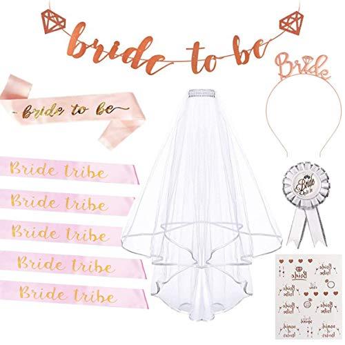 TANGGER 11 piezas Hen Party Bride to Be Sashes/Accesorios