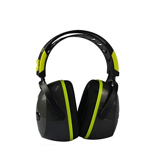 Gehörschutz Ohrenschützer Erwachsene Ohrenschützer Fabrik Lernen Schießen Schlaf Noise Reduction Schlafkomfort Earmuffs Noise Cancelling-Kopfhörer zum Gehörschutz ( Color : Green , Size : 25~33dB )