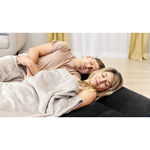 Intex Dura-Beam Standard Series Pillow Rest Raised Airbed w/ Built-in Pillow & Electric Pump, Bed Height 16.5
