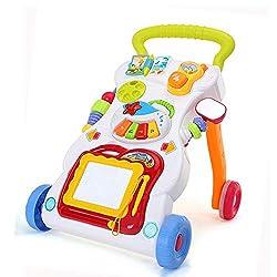 QD-BYM ベビーウォーカー ウォーカー 手押し車 知育遊び付 多種類の仕掛け 赤ちゃん 多機能 安定する水タンク付き 【二代目】
