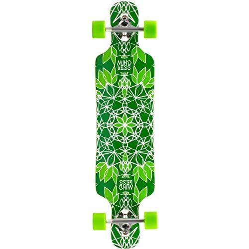 Mindless Longboards Sanke III Longboard Skateboard, Adulti Unisex, Verde (Green), 9,5'