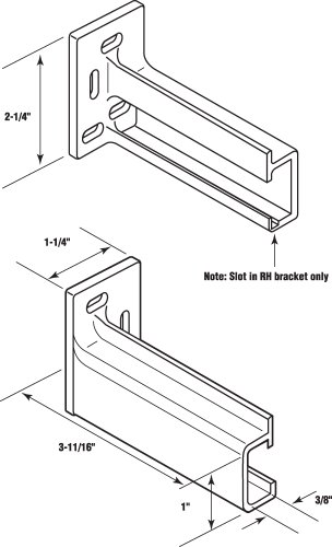Prime-Line R 7265 Drawer Track Back Plate, 3/8 in. x 1 in, Plastic, White, 1 Pair (1 LH, 1 RH)