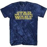 STAR WARS Men's Classic Vintage Simple Logo T-Shirt, Tie Dye, XL