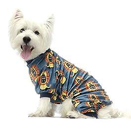 Fitwarm Roar! Lion Dog Pajamas Pet Clothes Cat Onesies Lightweight Velvet Blue