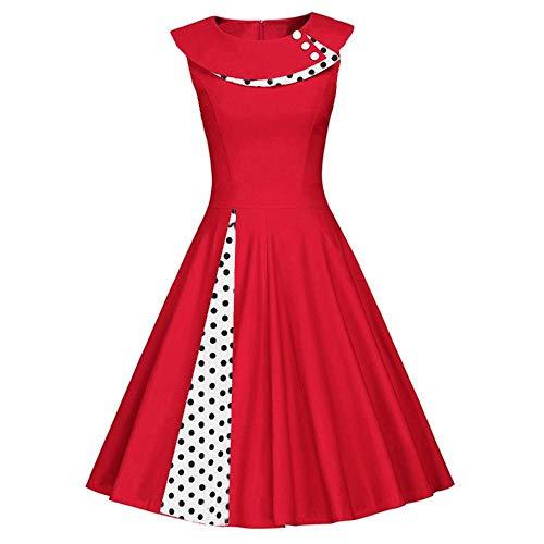 NOBRAND Court - Falda de retazos elegante y retro