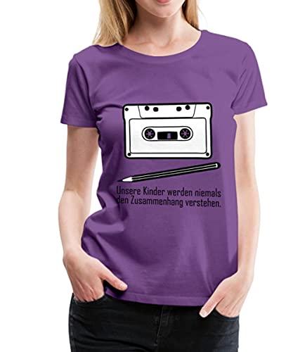 Zusammenhang Tape Bleistift Frauen Premium T-Shirt, 3XL, Lila