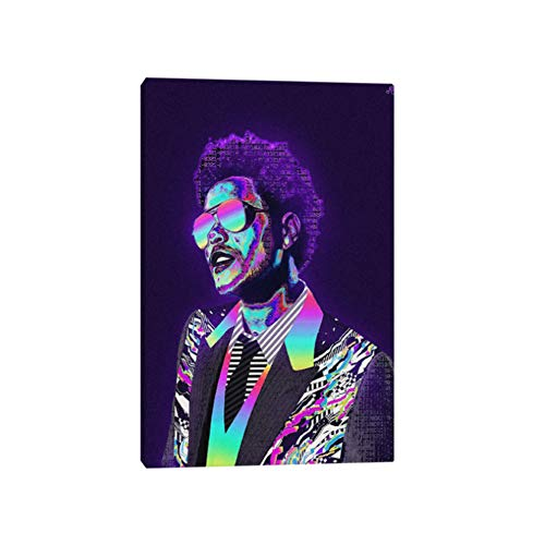 arteWOODS The Weeknd Poster en Lienzo Pintura Wall Art Decor Sala de Estar Dormitorio Estudio Decoración para el hogar Impresiones24x32 IN Sin Marco