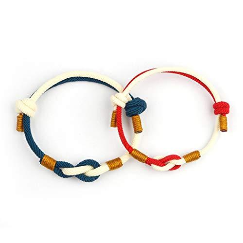 YO-HAPPY Fashion Bracelet, 2Pcs All-Consuming Love Bracelets Couple Distance Friendship Matching Bracelets