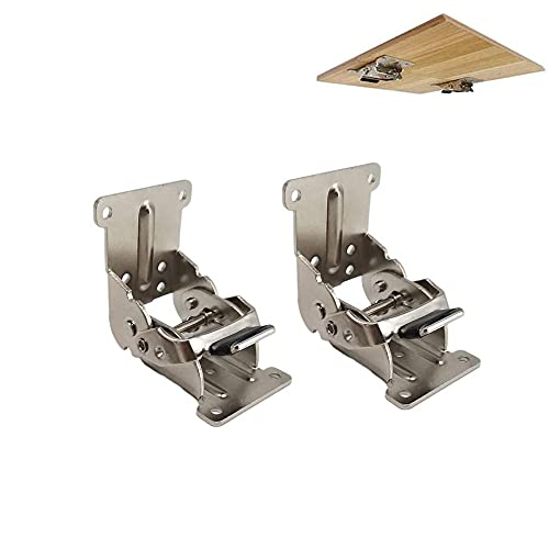 Folding Brackets 2 Pieces Locking Extension Bracket - 0-90-180 Degree Self-Locking Hinge for Telescopic Dining Table, Desk Table, Folding Hinge for Bed Legs