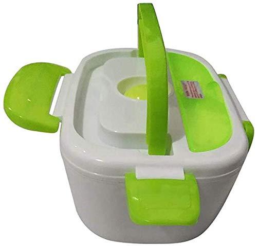 Chauffage électrique Gamelle 12V voiture portable for les enfants Repas Préparation Bento Box chauffée des contenants Thermos Boîte à lunch for la nourriture, vert jszzz (Color : Green)