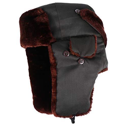 BESPORTBLE Trapper chapéu de inverno soldado à prova de vento chapéu russo bomber chapéu grosso de caça Ushanka orelha chapéu esquimó piloto chapéu aviador chapéu para homens e mulheres