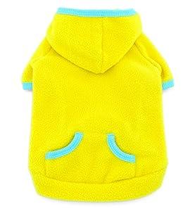 smalllee _ LUCKY _ ranger Pet vêtements pour petit chien chat vierges en polaire Manteau Pull à capuche pour homme Sport Style